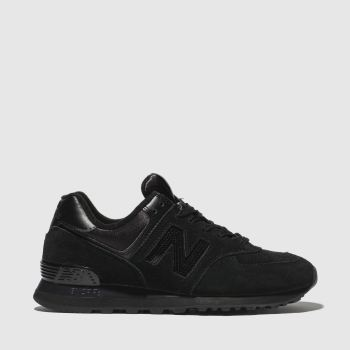 New Balance Black 574 V2 Suede Womens Trainers