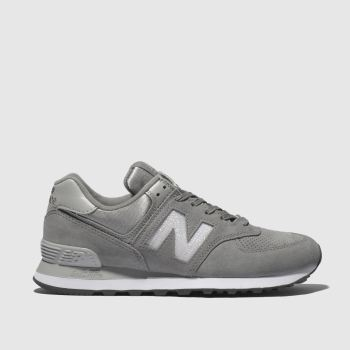 NEW BALANCE GREY 574 V2 SUEDE TRAINERS