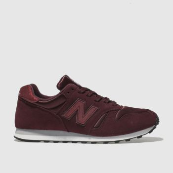 New Balance Burgundy 373 V1 Shimmer Womens Trainers