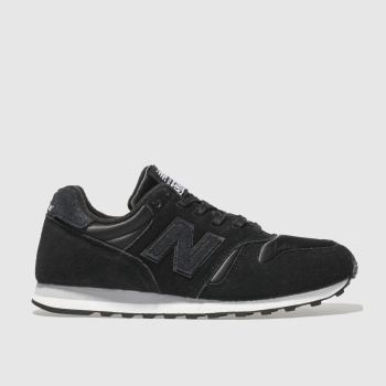 New Balance Black & White 373 V1 Shimmer Womens Trainers