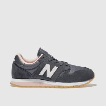 NEW BALANCE NAVY & WHITE 520 V2 SUEDE TRAINERS