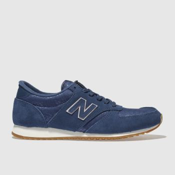 New Balance Navy & White 420 V1 Print Womens Trainers