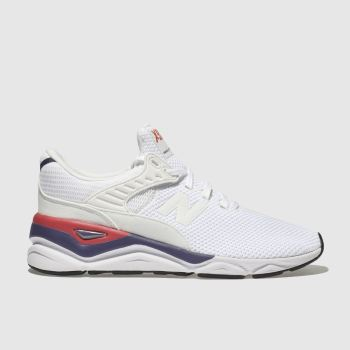New Balance White & Red X-90 Womens Trainers