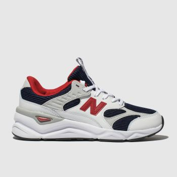 New Balance White & Navy X90 Womens Trainers