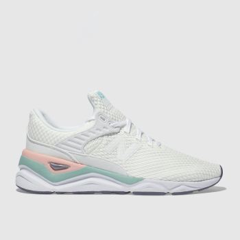 New Balance White & Pink X-90 Womens Trainers
