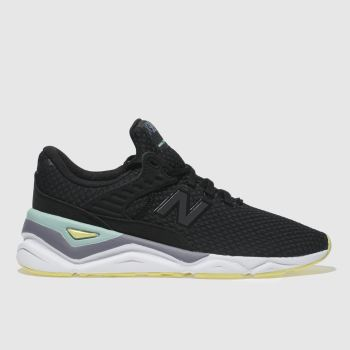 NEW BALANCE BLACK & GREY X-90 TRAINERS