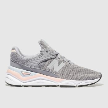 NEW BALANCE GREY X-90 TRAINERS