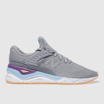 New Balance Grey & Blue X-90 Womens Trainers