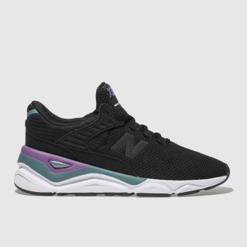 New Balance Black & Purple X-90 Womens Trainers