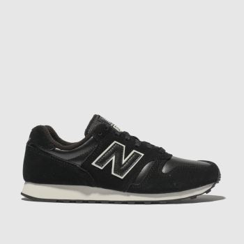 New Balance Black & White 373 V1 Womens Trainers