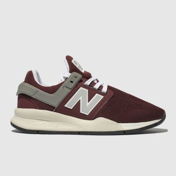 New Balance Burgundy 247 V2 Womens Trainers
