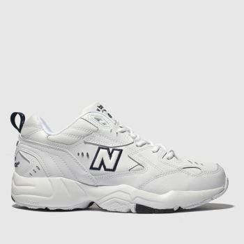 New Balance White & Navy 608 V3 Trainers