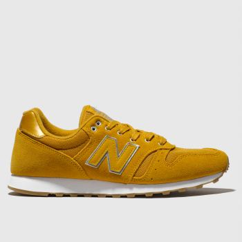 dc7d6209262 New Balance Yellow 373 Metallic Womens Trainers