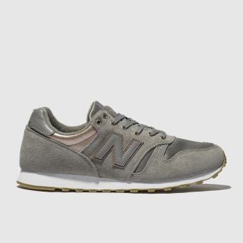 New Balance Grey 373 Metallic Trainers