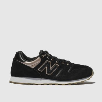 New Balance Black & Gold 373 METALLIC Trainers