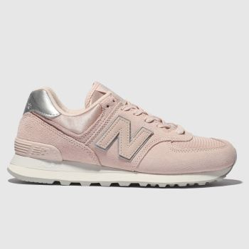 New Balance Pink 574 V2 Satin Trainers
