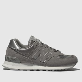 New Balance Grey 574 V2 Satin Womens Trainers