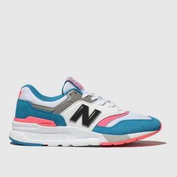 New Balance White & Blue 997H Womens Trainers