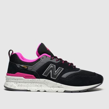 New Balance Black & pink 997 Womens Trainers