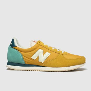new balance yellow 220 trainers