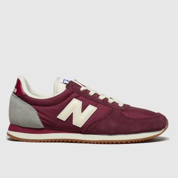 new balance burgundy 220 trainers