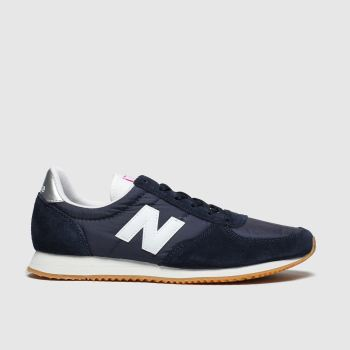New Balance Navy & White 220 Womens Trainers