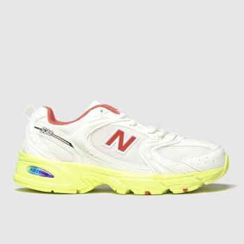 New Balance White & Red 530 c2namevalue::Womens Trainers