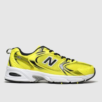 new balance yellow 530 trainers