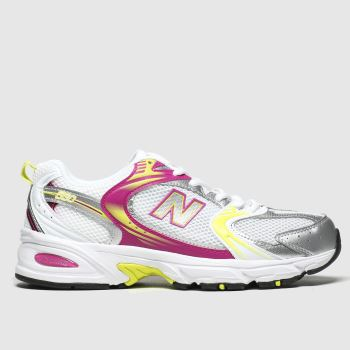 New Balance White & Yellow 530 Trainers
