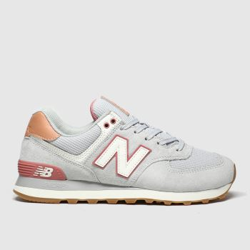 New Balance Light Grey 574 Womens Trainers#