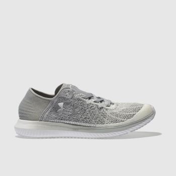 Under Armour White & grey Threadborne Blur Womens Trainers