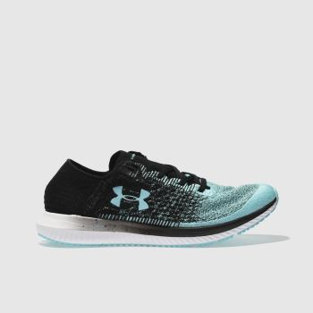 Under Armour Black and blue Threadborne Blur Womens Trainers