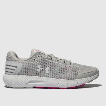 Under Armour Light Grey Charged Rogue Amp Womens Trainers