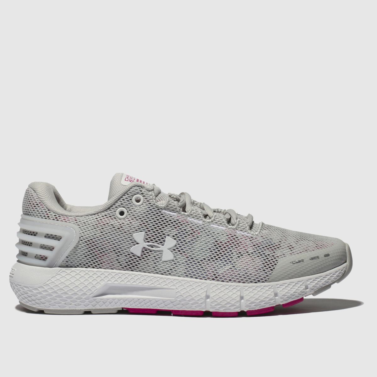 Under Armour Light Grey Charged Rogue Amp Trainers