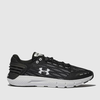 UNDER ARMOUR BLACK & WHITE CHARGED ROGUE TRAINERS