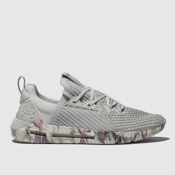 Under Armour Light Grey Hovr Slk Evo Womens Trainers