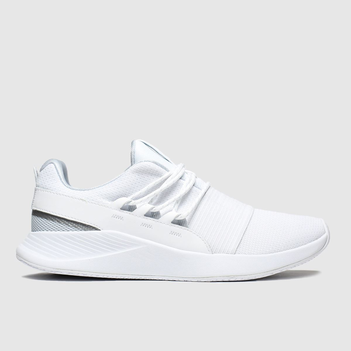 Under Armour White Charged Breathe Lace Trainers