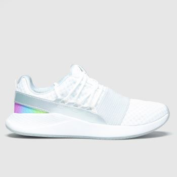 Under Armour White & grey Charged Breathe c2namevalue::Womens Trainers