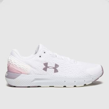 Under Armour White & grey Charged Rogue 2 Womens Trainers
