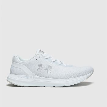 Under Armour White Charged Impulse Trainers