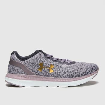 Under Armour Black & Purple Charged Impulse Womens Trainers#