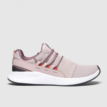 Under Armour White & Pink Charged Breathe c2namevalue::Womens Trainers