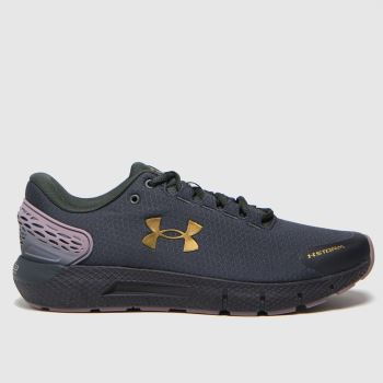 Under Armour Black & Gold Charged Rogue 2 Storm Womens Trainers