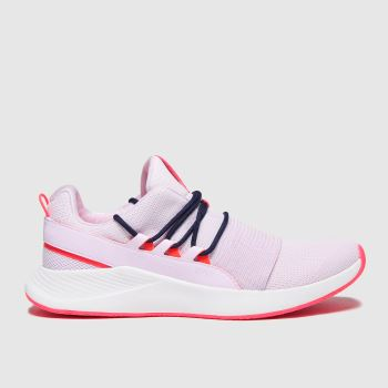 Under Armour White & Pink Charged Breath Lace Womens Trainers#