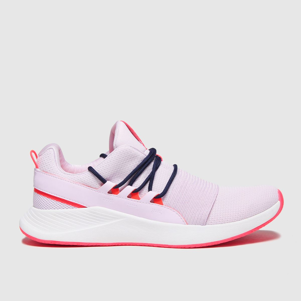 Under Armour White & Pink Charged Breath Lace Trainers