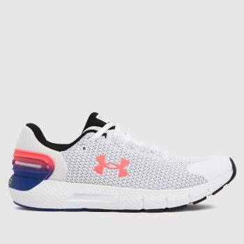 Under Armour White & Pink Charged Rogue 2.5 Womens Trainers