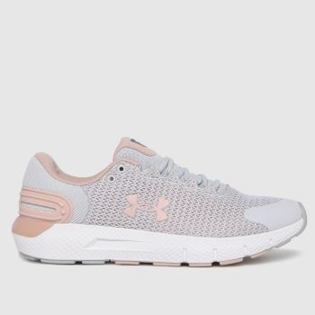 Under Armour Light Grey Charged Rogue 2.5 Womens Trainers