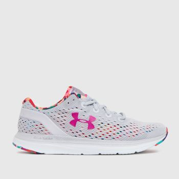 Under Armour Grey W Charged Impulse Flrl Womens Trainers