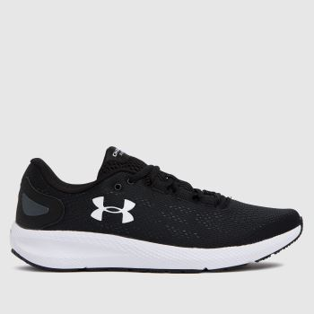 Under Armour Black & White Charged Pursuit 2 Womens Trainers