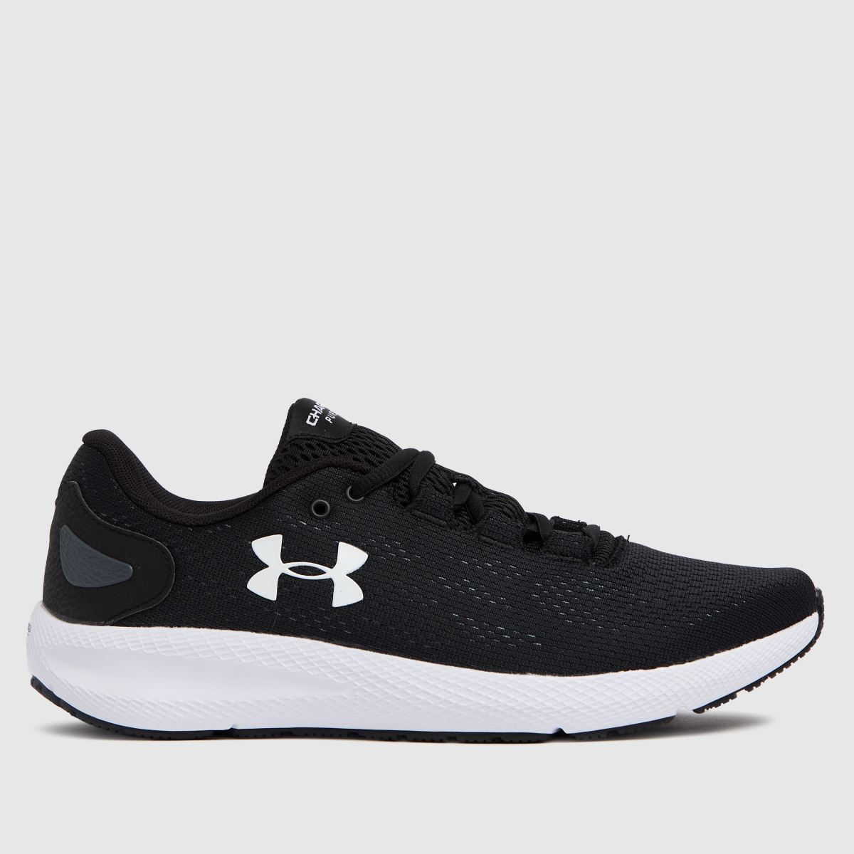 Under Armour Black & White Charged Pursuit 2 Trainers